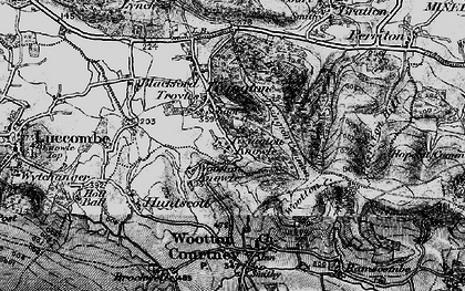 Old map of Tivington Knowle in 1898