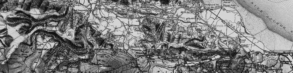 Old map of Tivington Common in 1898