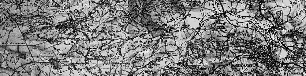 Old map of Tivy Dale in 1896