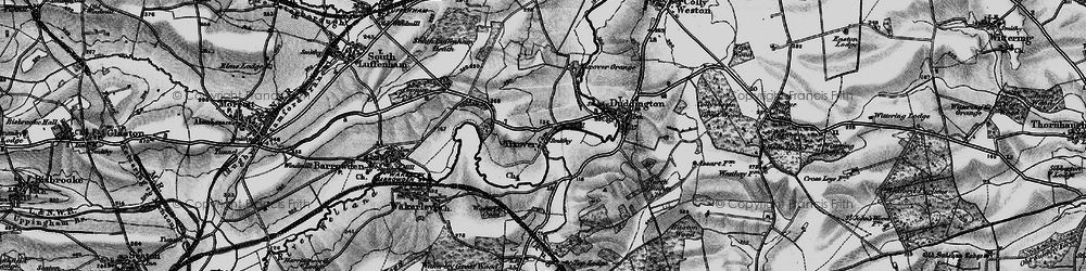 Old map of Tixover in 1898