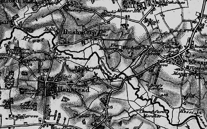 Old map of Latymere Dam in 1898