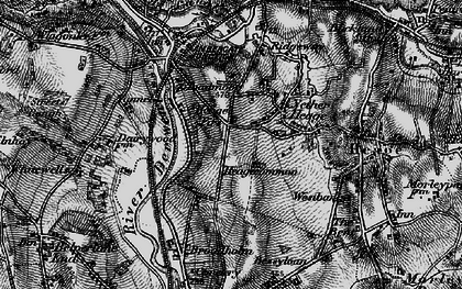 Old map of Toadmoor in 1895