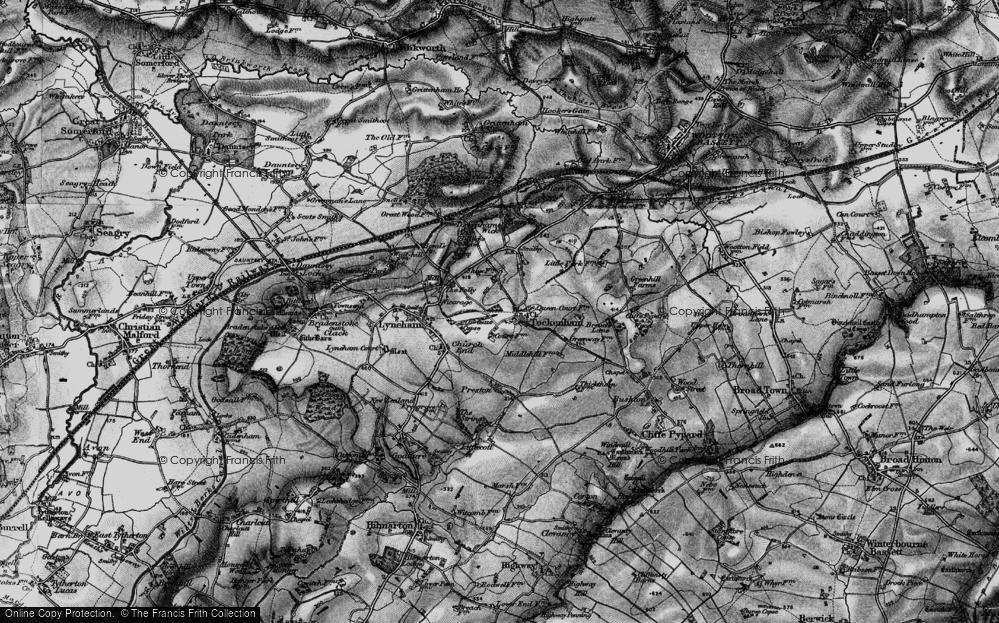 Old Map of Tockenham, 1898 in 1898