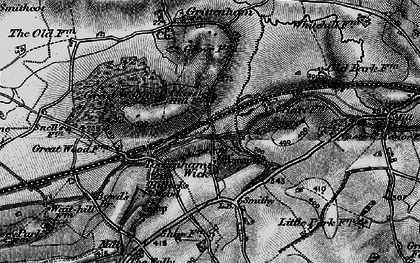 Old map of Tockenham Wick in 1898