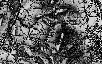 Old map of Tockholes in 1896