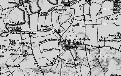 Old map of Wilstrop Wood in 1898