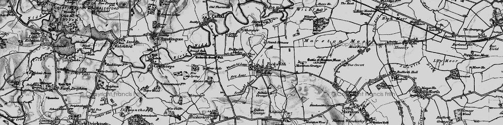 Old map of Wilstrop Wood in 1898