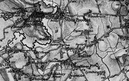 Old map of Todber in 1898