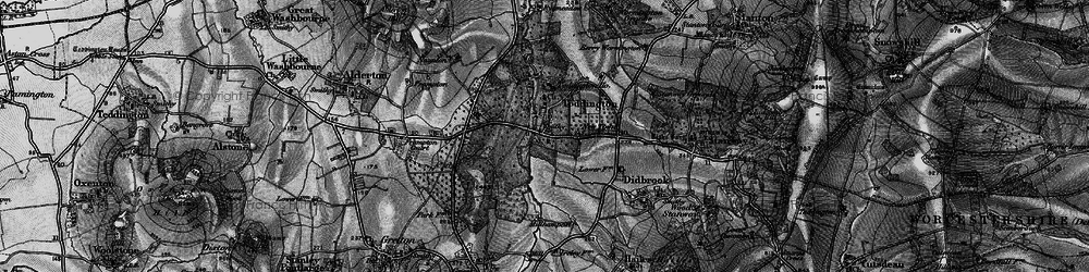 Old map of Toddington in 1896