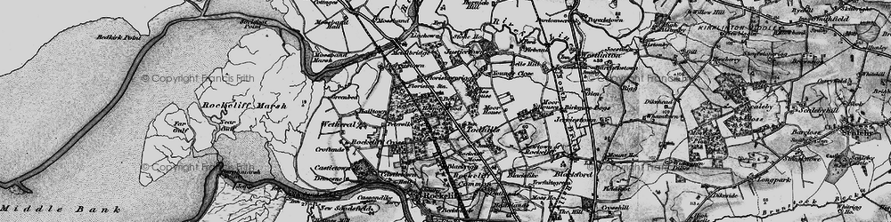 Old map of Young's Close in 1897
