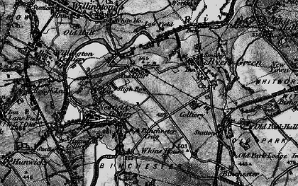 Old map of Todhills in 1897