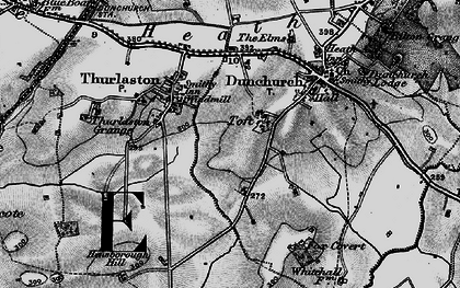 Old map of Toft in 1898