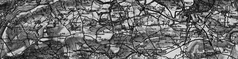 Old map of West Witton Row in 1897