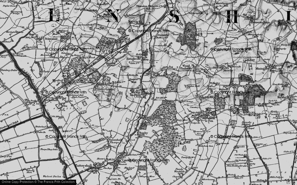 Old Map of Toft Hill, 1899 in 1899