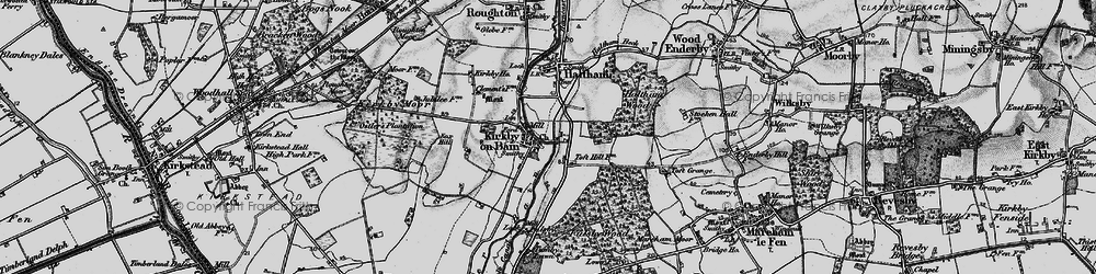 Old map of Toft Hill in 1899