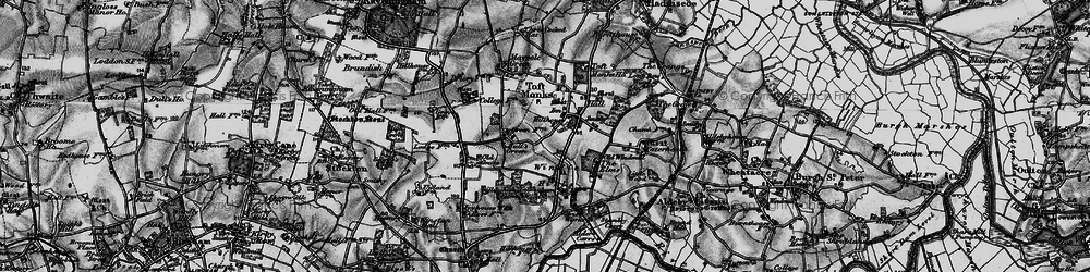Old map of Windle Hills in 1898