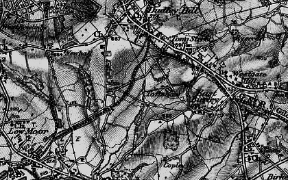 Old map of Toftshaw in 1896