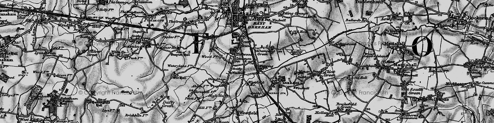 Old map of Toftwood in 1898