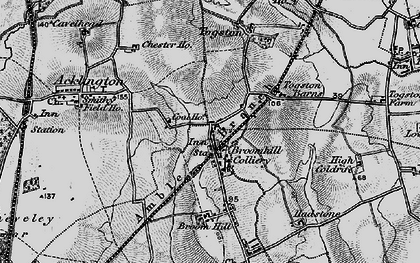 Old map of Togston in 1897