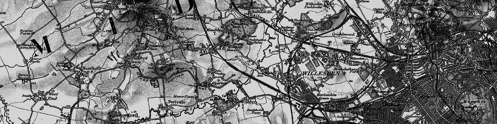 Old map of Tokyngton in 1896