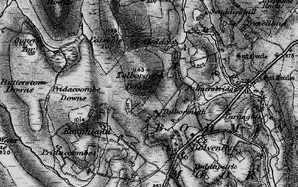 Old map of Tolborough in 1895