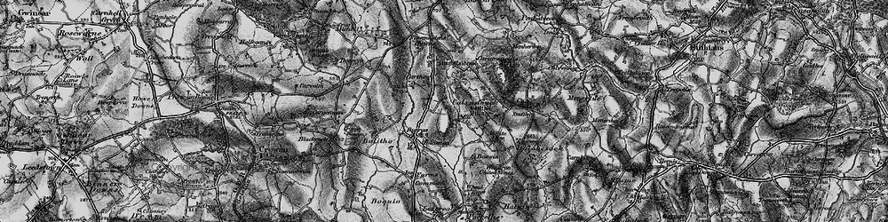 Old map of Tolcarne Wartha in 1896