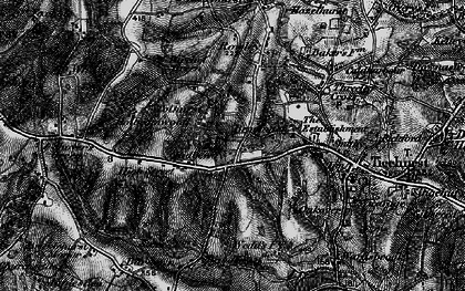 Old map of Ticehurst Ho in 1895