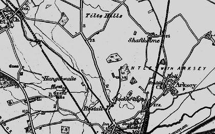 Old map of Toll Bar in 1895