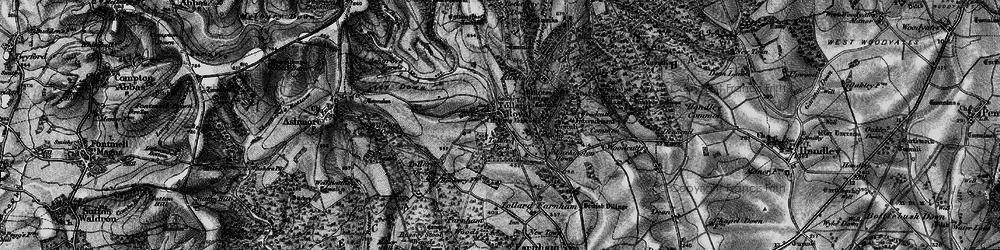 Old map of Tollard Royal in 1895