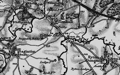 Old map of Tollbar End in 1899