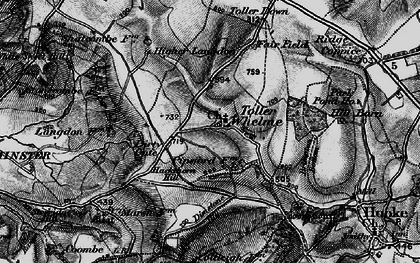 Old map of Westcombe Coppice in 1898
