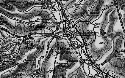 Old map of Tollerford in 1898