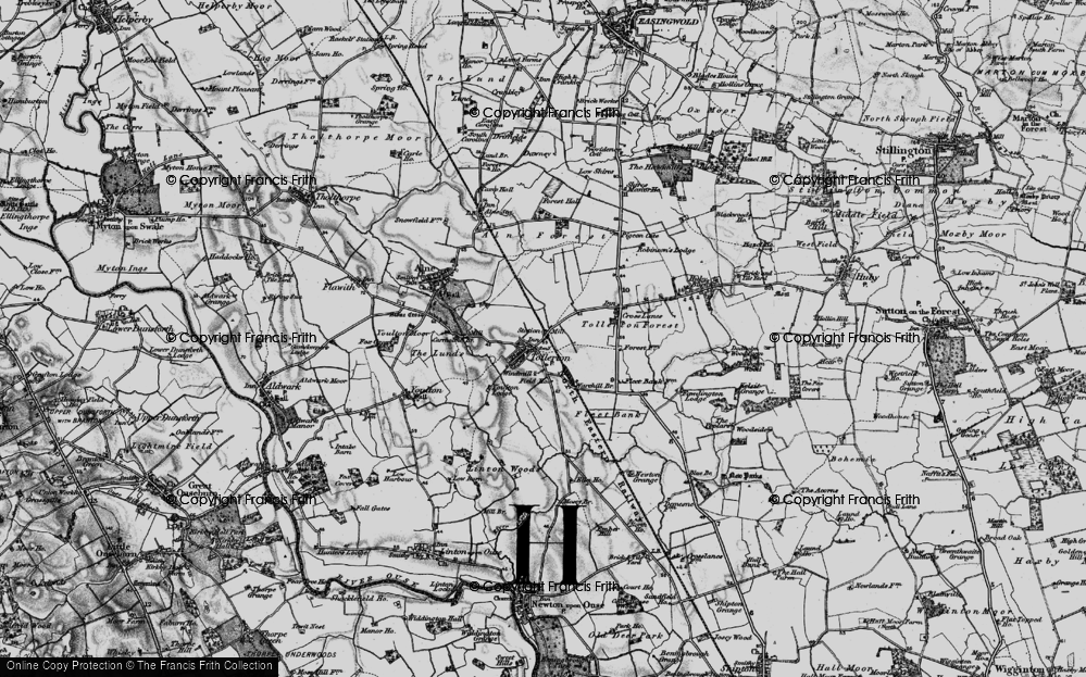 Old Map of Tollerton, 1898 in 1898
