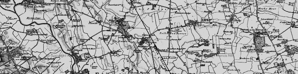 Old map of York Br in 1898