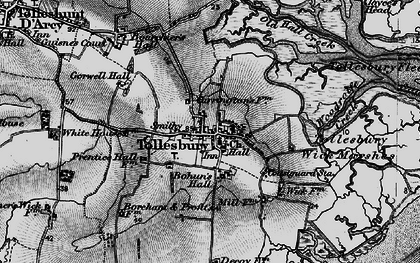 Old map of Tollesbury Wick Marshes in 1895