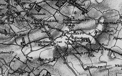 Old map of Tolleshunt Knights in 1896