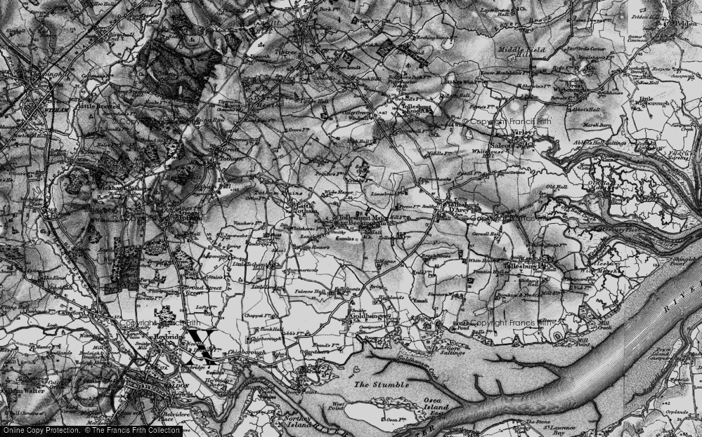 Old Map of Tolleshunt Major, 1895 in 1895