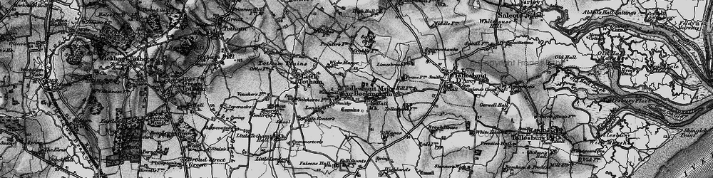 Old map of Tolleshunt Major in 1895