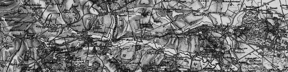 Old map of Tolpuddle in 1898