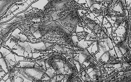 Old map of Tolvaddon Downs in 1896