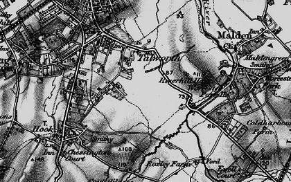 Old map of Tolworth in 1896