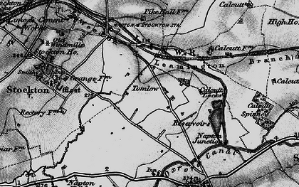 Old map of Tomlow in 1898