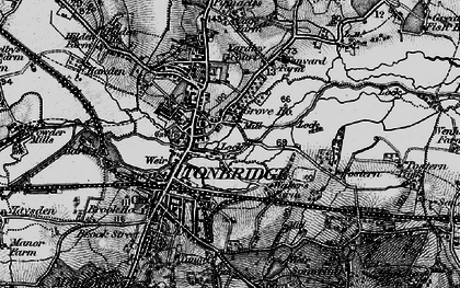 Old map of Tonbridge in 1895