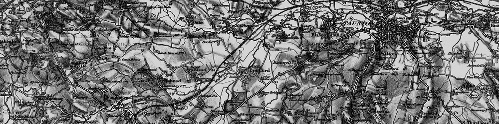 Old map of Tone Green in 1898