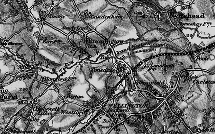 Old map of Tonedale in 1898