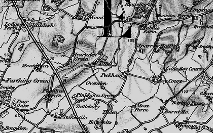 Old map of Tong in 1895
