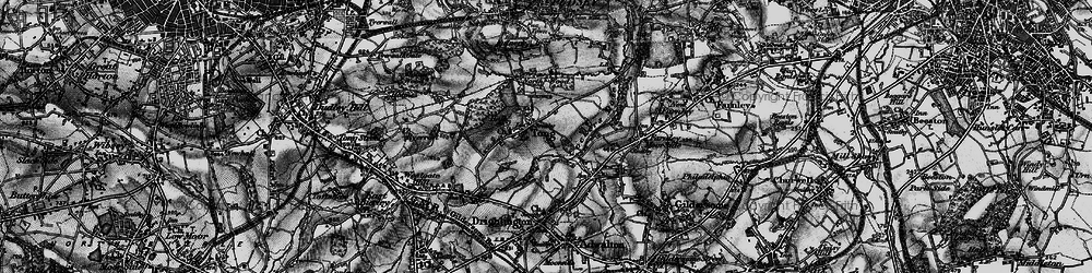 Old map of Leeds Country Way in 1896