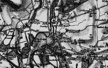 Old map of Tong in 1897