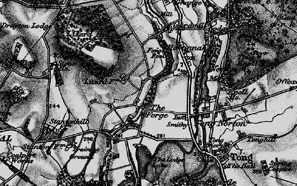 Old map of Tong Forge in 1897