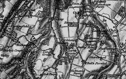 Old map of Tong Green in 1895